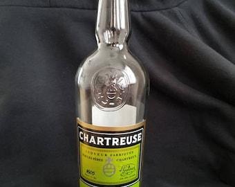 Yellow Chartreuse liquor bottle lamp