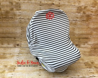 Nursing cover, Carseat cover, 3-in-1 Stretchy Baby Nursing Cover, Car Seat Canopy, and Shopping Cart Cover, monogrammed, personalized, baby