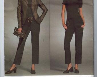 Misses Sewing Pattern Vogue V2986 2986 Michael Kors Misses and Petite Jacket Pants Suit Fitted Size 6 8 10 12 Bust 30 31 32 33 34 UNCUT  99
