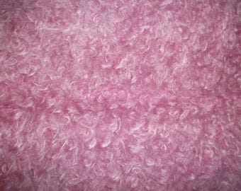 Steiff Schulte 15mm Dense Hot Pink  coloured  Curly Mohair