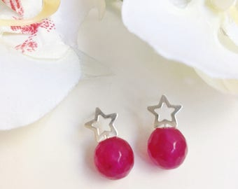 Sterling Silver Star Earring