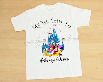 Boys My First Disney Trip Sirt, Disney World Shirt, Boys Mickey Shirt, Mickey Mouse Shirt, Disney Trip Shirt, Personalized Disney Shirt