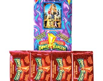 4 Mighty Morphin Power Ranger Card Packs 1994