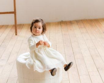 Baptism Dress Flower Girl Dress Baby Toddler Girl Ivory And