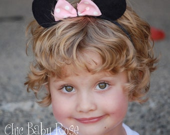 The Mouse Collection by Chic Baby Rose Felt Minnie Ears