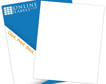 "Printable Sticker Paper (100 Sheets), White Matte Inkjet/Laser - 8.5"" X 11"""