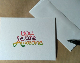 You Are Awesome Card – Just Because Card – Graduation Card – Any Occasion Card – Celebration Card – Thinking of You – Encouragement Card