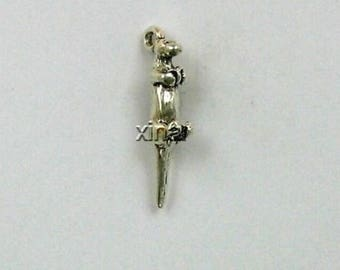 Sterling Silver 3-D Otter Charm