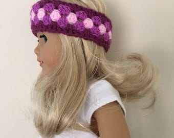 "18"" doll headband will fit dolls such as American Girl."