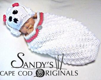 Crochet Poodle Cocoon and Hat Crochet Pattern pdf701