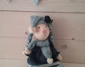 Rabbit Doll in Fabric