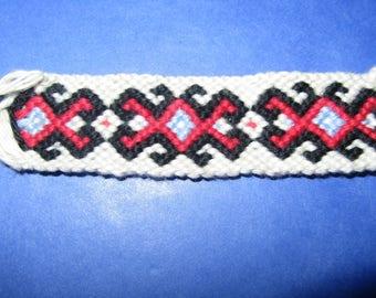 Bracelet Brazilian black and Red butterflies