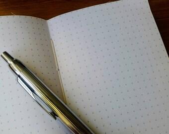 Bullet planner journal dot grid insert for Travelers Notebook, Bujo Dotted planner inserts for Midori Fauxdori Traveler Notebook