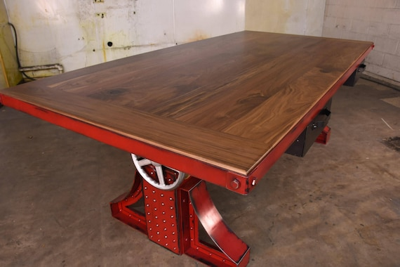 Genial Vintage Industrial Crank Desk / Bronx Adjustable Height Table