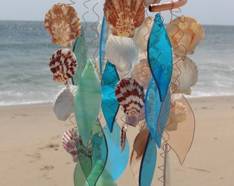 Glass and Sea Shell Wind Chime