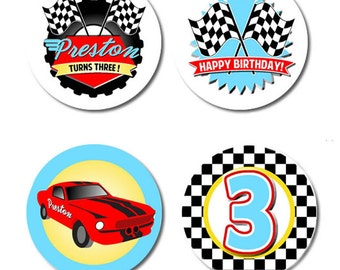 Race Car #Party #Stickers