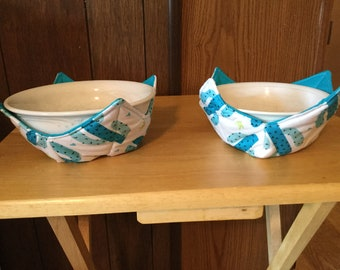 Bowl Cozy - Teal Set of 2
