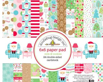 Doodlebug milk and cookies paper pad
