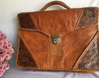 Vintage All Leather Briefcase.