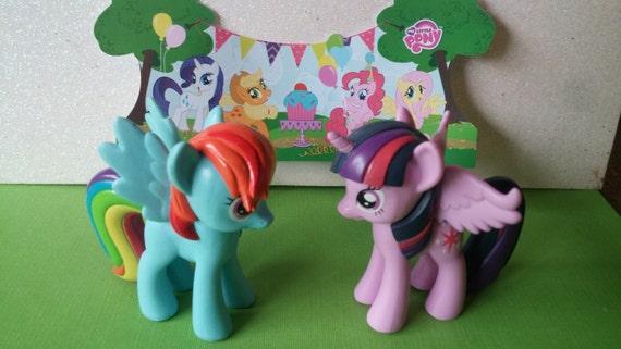 MY LITTLE PONY cake topper Rainbow Dash Twilight Sparkle rings
