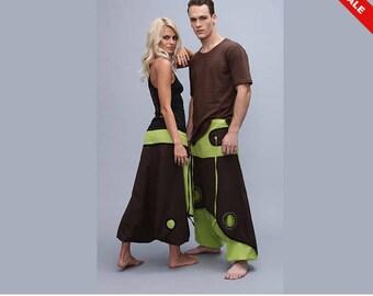 Harem Pants Aladdin Pant  Afghani  Psy  Rave  Cotton  Festival pants - Primary colour Apple Green