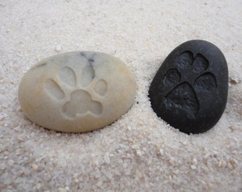 Stone Paw Print |Customized Paw Print |Best Pet Cat Dog Lover Gift |Cat Dog Pet Paw Memorial Stone |Carved Paw Print Stone |Your Paw Print
