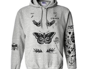 Butterfly Tattoos Hoodies Sweatshirt Sweater Shirt
