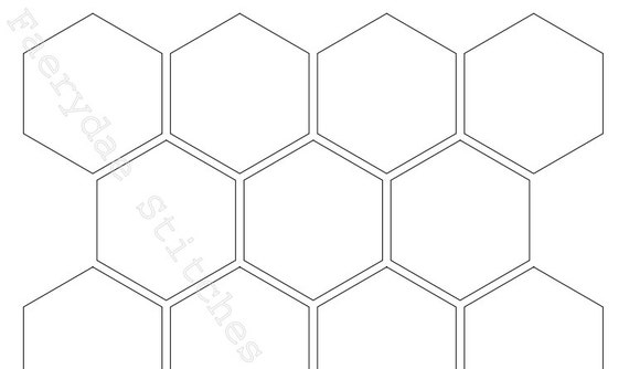 Hexagon templates pdf in 12 sizes for 1 5 inch hexagon template