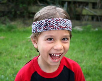 Zombie Headband / Gray Headband for Boys / BoyBand / Funny Boy Accessory / Walking Dead Kid Accessory / Kid Hairband Toddler Headband