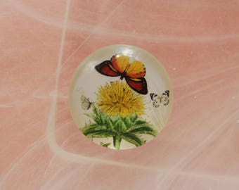 Butterfly glass cabochon