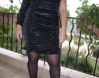 Short evening gown or cocktail panne Velvet