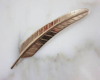 Silver Feather Brooch - Sterling, Napier 1940s, Southwestern Style Jewelry