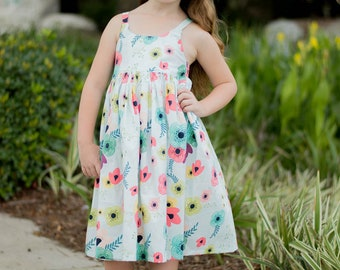 Summer Floral Dress, Bohemian, Boho, Hipster, Girls Clothing, Summer Dress, Spring Clothing, Easter Dress
