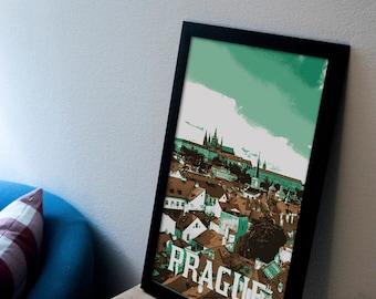 Prague, Czech Republic Poster 11x17