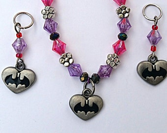 Bat Girl Bracelet  (with a matching hearing aid charm set available at bundle price)!