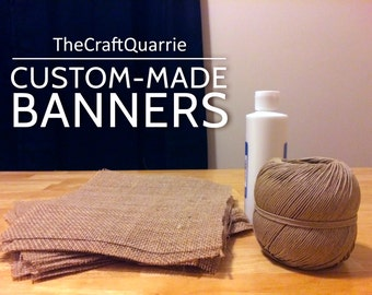 Burlap Banner - Custom