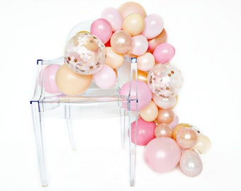 Balloon Garland Kit - Rose Gold - Pink, Blush, Rose Gold Party Balloons, Rose Gold Party - Bridal Shower Balloons