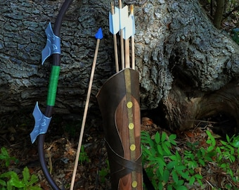 The Legend of Zelda Twilight Princess Bow, Quiver, and 6 Cosplay Arrow Set