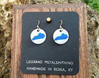 Kentucky blue earrings
