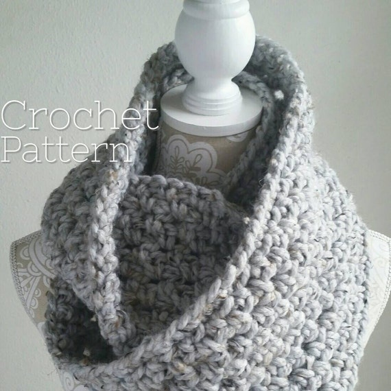 Crochet Pattern Bundle 2 Patterns Crochet Infinity Scarf Pattern