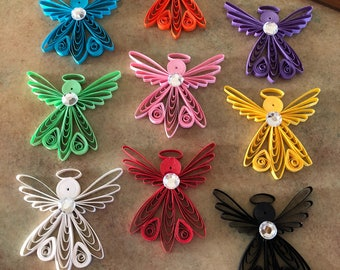 Paper Quilled Angels, Set of 3 for 15.00