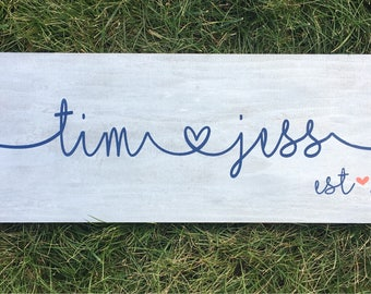 Custom Couple Name Sign