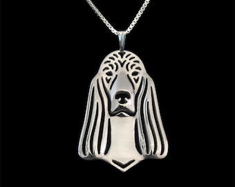 Irish Setter jewelry - sterling silver pendant and necklace.
