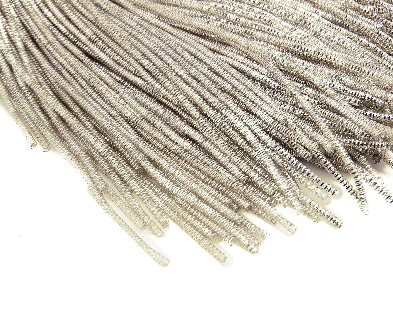 2 mm Silver Metallic Bullion Thread, Rough Bullion Thread, Jewelry ...