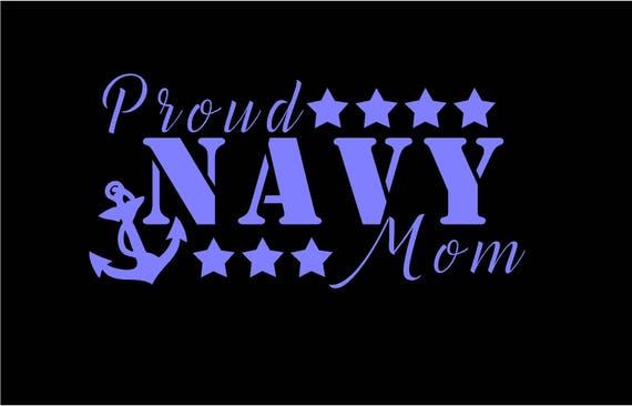 Proud Navy Mom Decal Proud Navy Dad Decal Navy Decal Navy Mom