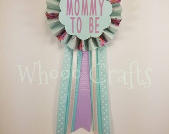 floral antlers mommy to be pin- flowers and antlers mommy to be corsage - floral antlers baby shower