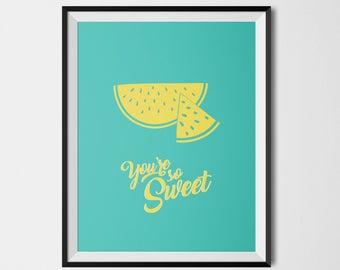 Affiche colorée PASTEQUE so Sweet