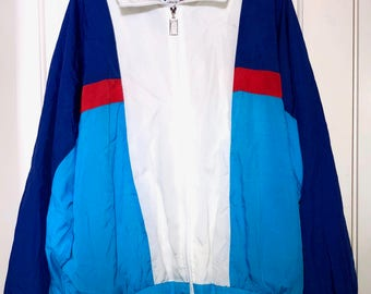 90s Vizor Zip Up Windbreaker Jacket Adult Size XL