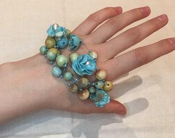 Polymer clay bracelet Handmade