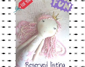 Reserved for Deb Kow  -    Mermaid doll pink and gold hair
